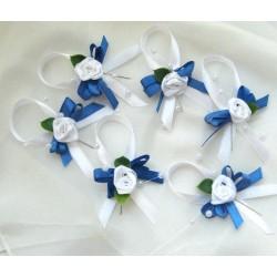 Svatební  vývazek modrobílý