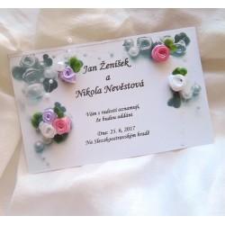 Svatební oznámení s růžičkami