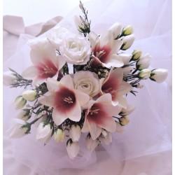 """svatební auto - """"Bílé růže s liliemi"""""""