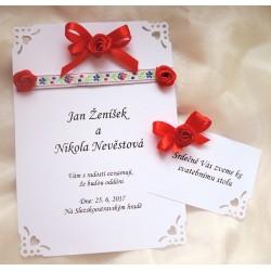 """Svatební oznámení """"Na lidovú notečku"""""""