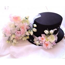 """svatební auto - """"Bílá s růžovou pro dva"""""""