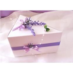 krabička na výslužku nebo dort levandulová