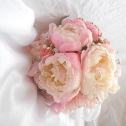 Svatební kytice- romantická pivoňková