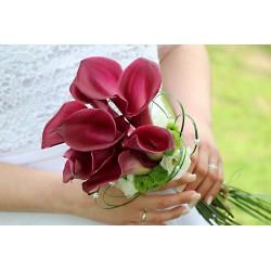Svatební kytice- vínová elegance