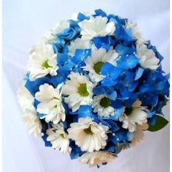 Svatební kytice -modrá louka