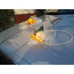 Korsáž auta- Motýli a květy mini