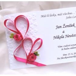 """svatební oznámení  """"Srdeční záležitost"""""""