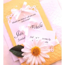 """Svatební oznámení """"Kapsa 6"""""""