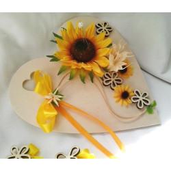podložka pod prstýnky -slunečnice