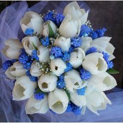 svatební kytice- jarní nebeská