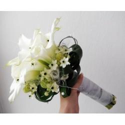 Svatební kytice kaly a ornithogalum