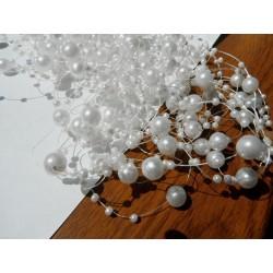 Perličky na silonu- bílé