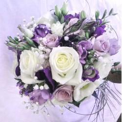 svatební kytice- fialové tóny