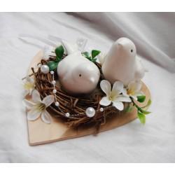 fiurky na dort- ptáčci v hnízdě