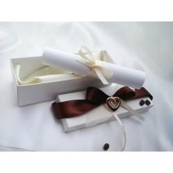 Svatební oznámení v krabičce kávové