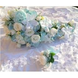 Svatební kytice- nebeská převislá (umělá)