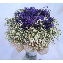 Svatební kytice - levandule v krajkách