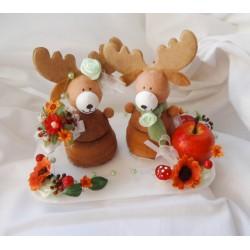 Figurky na dort- podzimní s jelínky