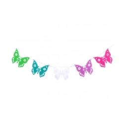 Papírová girlanda motýl