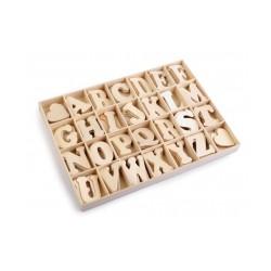 Samolepící dřevěná písmena v krabici