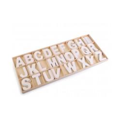 Dřevěná písmena v krabici - bílá