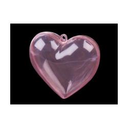 Plastové srdce 8x8 cm dvoudílné