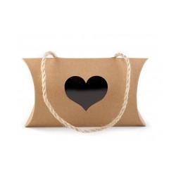 Dárková krabička srdce s průhledem a uchem