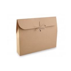 Papírová krabička natural s provázkem