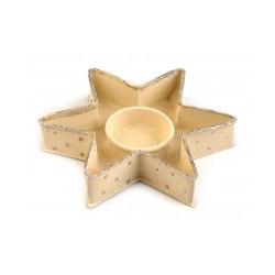 Kovový svícen hvězda Ø13 cm