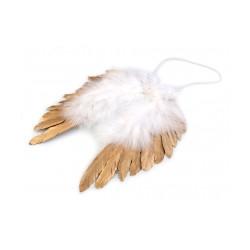 Andělská křídla metalická 19x19 cm