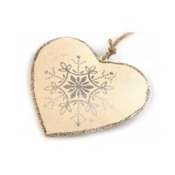 Kovové srdce 10x10,5 cm