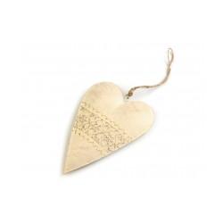 Kovové srdce 10x14,5 cm