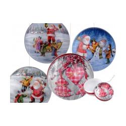 Vánoční dárková krabička - koule Ø8 cm
