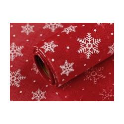 Imitace juty šíře 24 cm vánoční