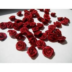 růžičky látkové vínové 12-15mm (10ks)