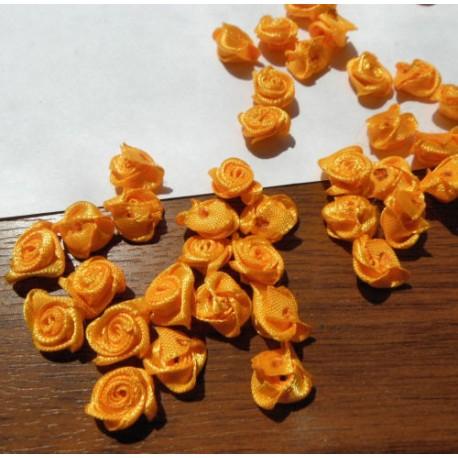 růžičky látkové žlutooranžové 12-15mm (10ks)