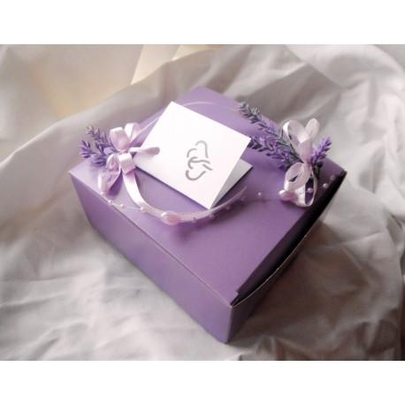 Krabička na výslužku- levandule