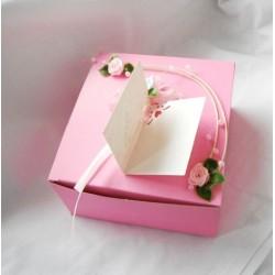 Krabička na výslužku- pink rosa