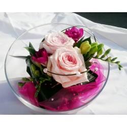 dekorace na prstýnky- romantická malinová