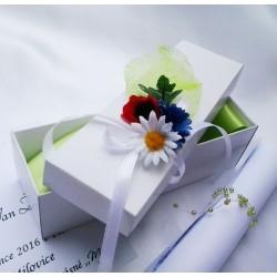 Svatební oznámení v krabičce luční