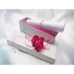 Svatební oznámení v krabičce s orchidejkou