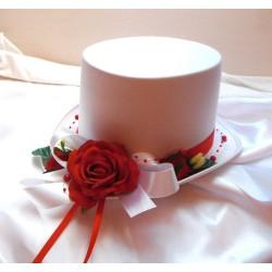 autokorsáž- cylindr s červenou růží